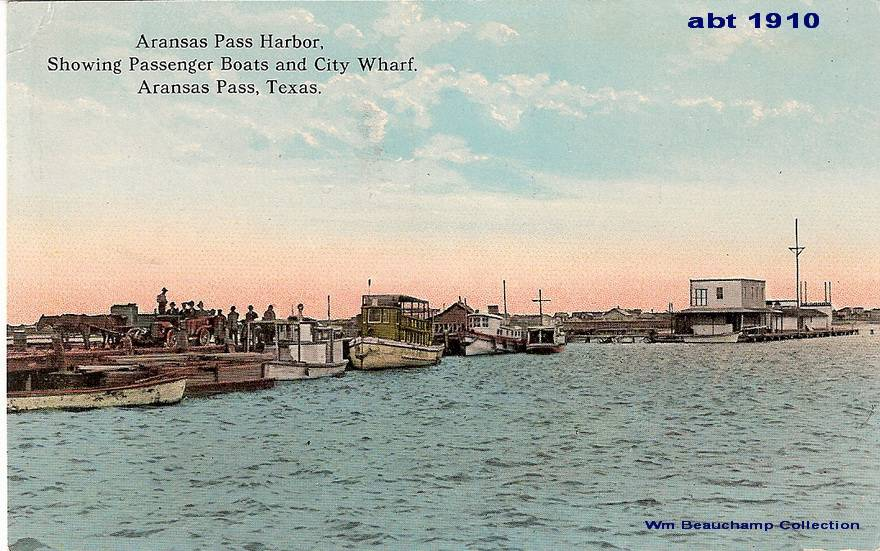 Harbor - Passenger Boats & City Wharf - Ca 1910