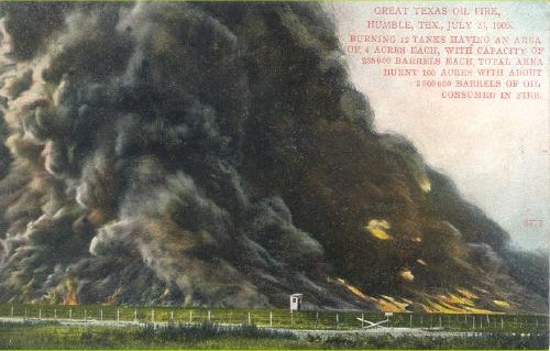 Great Texas Oil Fire - 1905