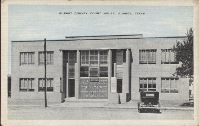 Burnet County Courthouse ca. 1939
