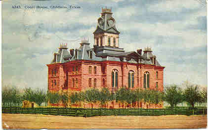 Childress County Courthouse ca. 1900