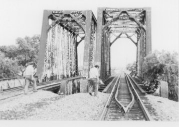Front of Railroad Bridge