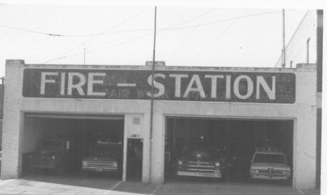 Front of Fire Station/109 W. 6th St.